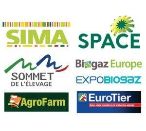 Salons SIMA, SPACE, Sommet de l'élevage, AgroFarm