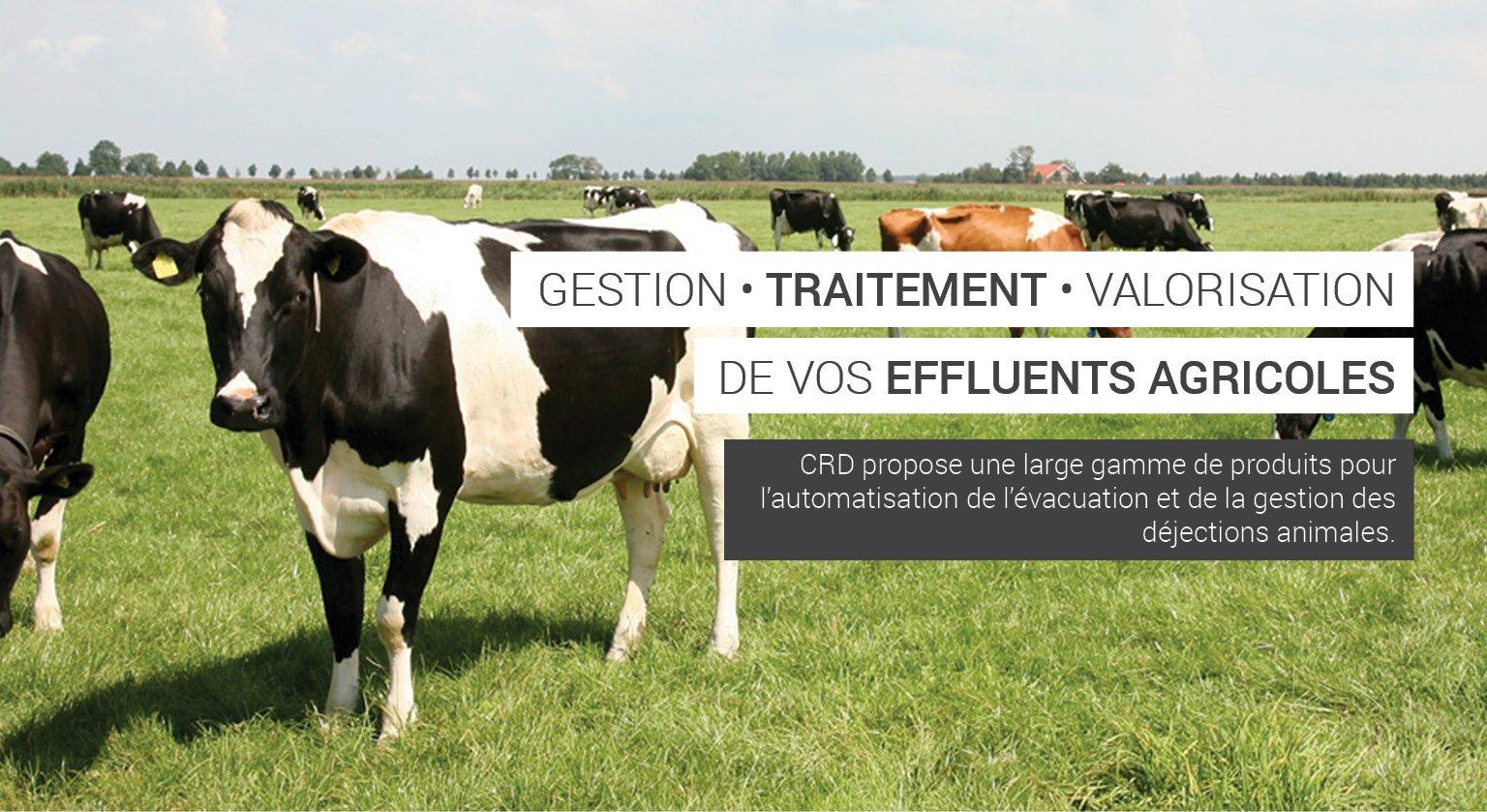Tous les produits agricoles pour l'évacuation des déjections animales